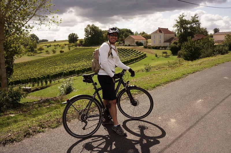 circuit à vélo decouverte des vins de Bordeaux