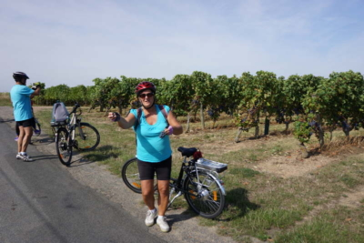 cycling in the vineyards of the loire valley